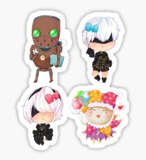 Nier automata sticker set chibi Sticker