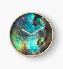 Green Galaxy Clock