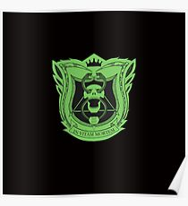 King's Dominion Crest - Green Poster