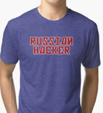 Russian Hacker Tri-blend T-Shirt