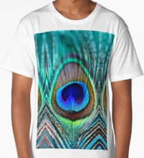 Peacock Feather Long T-Shirt