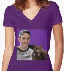 Robin Lord Taylor & Finn Women's Fitted V-Neck T-Shirt