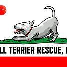 Bull Terrier Rescue, Inc. California Flag by BTRI