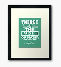 The Backside of Water Framed Print