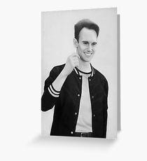 Cory Michael Smith - Pencil drawing Greeting Card