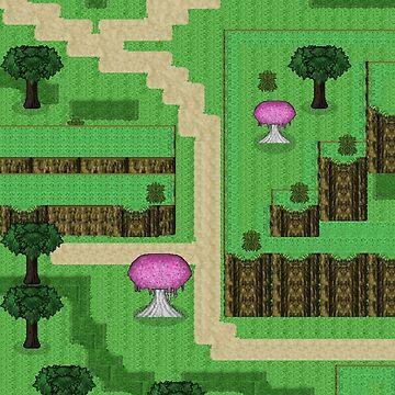 RPG Pixel Mountain Map Phone Case by shadowinkdesign