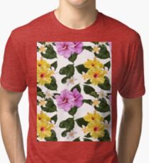 Flower Power Pattern Tri-blend T-Shirt