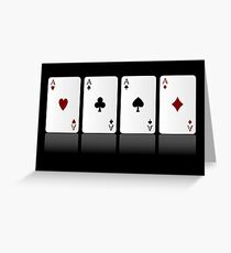 Four Aces Greeting Card