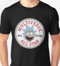 Rick And Morty Rick Converse Multiverse All Star Unisex T-Shirt
