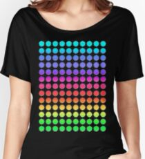 Rainbow Circle Flower Women's Relaxed Fit T-Shirt