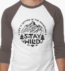 Stay Wild black Men's Baseball ¾ T-Shirt
