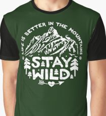 Stay Wild white Graphic T-Shirt