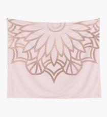 Floral rose gold mandala Wall Tapestry