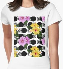 Flower Power Pattern Womens Fitted T-Shirt