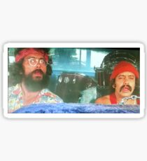 Stoned Cheech and Chong Sticker