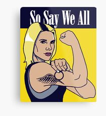 so say we all Metal Print