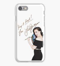Lana Parrilla Autograph iPhone Case/Skin