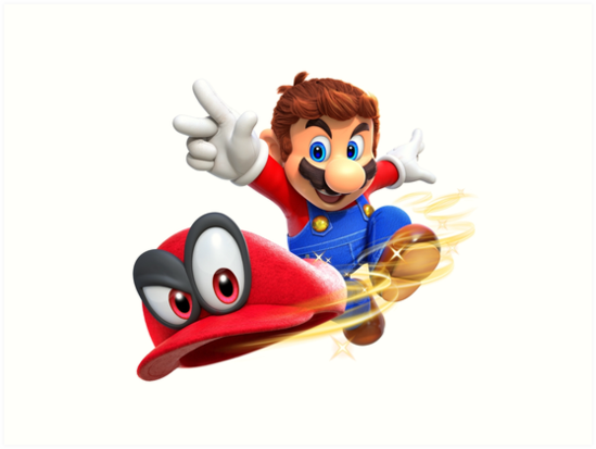 Super mario odyssey mario and cappy art prints by for Super mario odyssey paintings