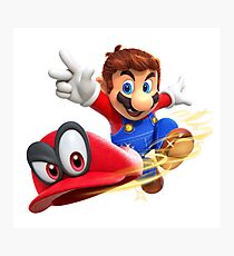 Super Mario Odyssey - Mario and Cappy Photographic Print