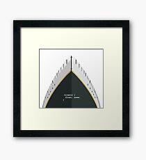 Titanic CSS Values Framed Print