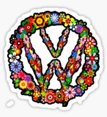 VW Flower Sticker