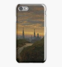 Carl Gustav Carus - Look at Dresden at Sonnenuntergang iPhone Case/Skin