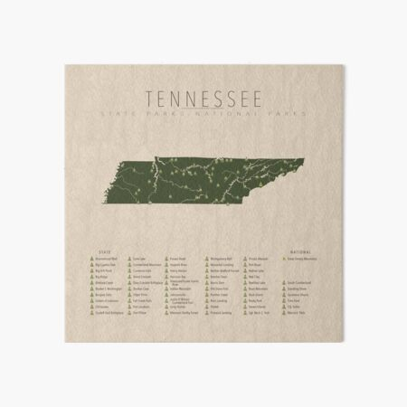 Tennessee Parks Art Board Print