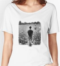 OASIS AT KNEBWORTH - posterized image. ICONIC Women's Relaxed Fit T-Shirt