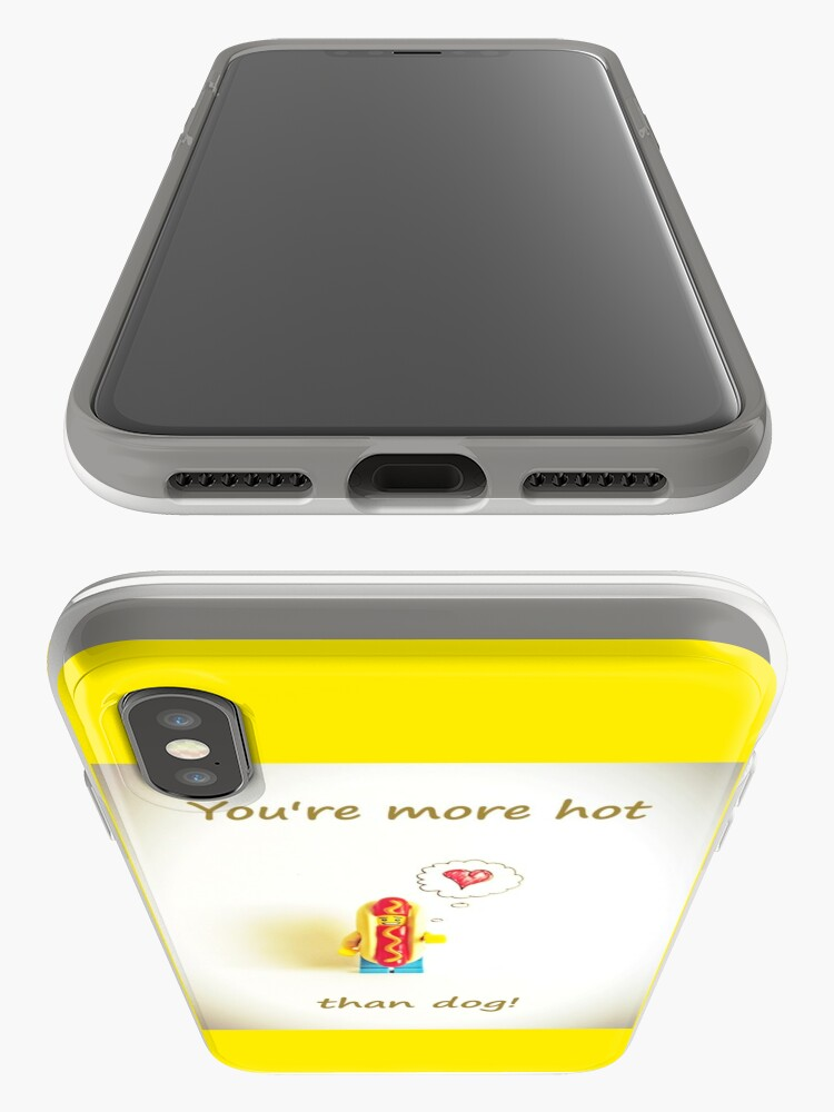 Alternate view of You're more hot than dog iPhone Case & Cover