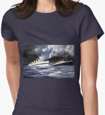 RMS Titanic and her sister the HMHS Britannic Womens Fitted T-Shirt