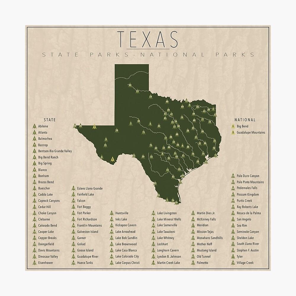 Texas Parks Photographic Print
