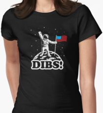 Astronaut Dibs on Moon America Women's Fitted T-Shirt