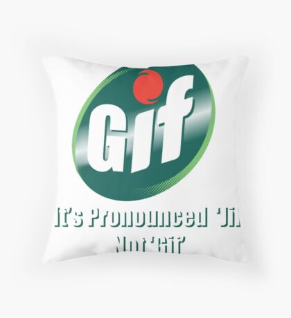 GIF Throw Pillow