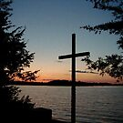 Cross at Pilgrim Point Camp by cap10mike