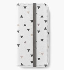 DOWN UP / scandi white / warm grey / flax / lavender iPhone Flip-Case/Hülle/Skin
