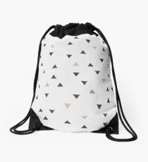 DOWN UP / scandi white / warm grey / flax / lavender Drawstring Bag