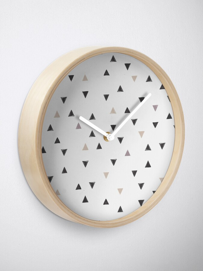 Alternative Ansicht von DOWN UP / scandi white / warm grey / flax / lavender Uhr
