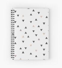 DOWN UP / scandi white / warm grey / flax / lavender Spiral Notebook