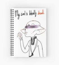 My soul id dead - Merch Spiral Notebook