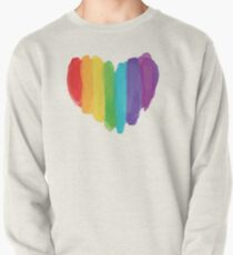 LGBTQ Watercolor Love Heart Pullover