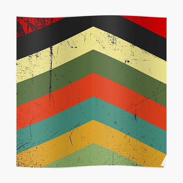 Grunge chevron Poster