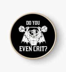 do you even crit? Clock