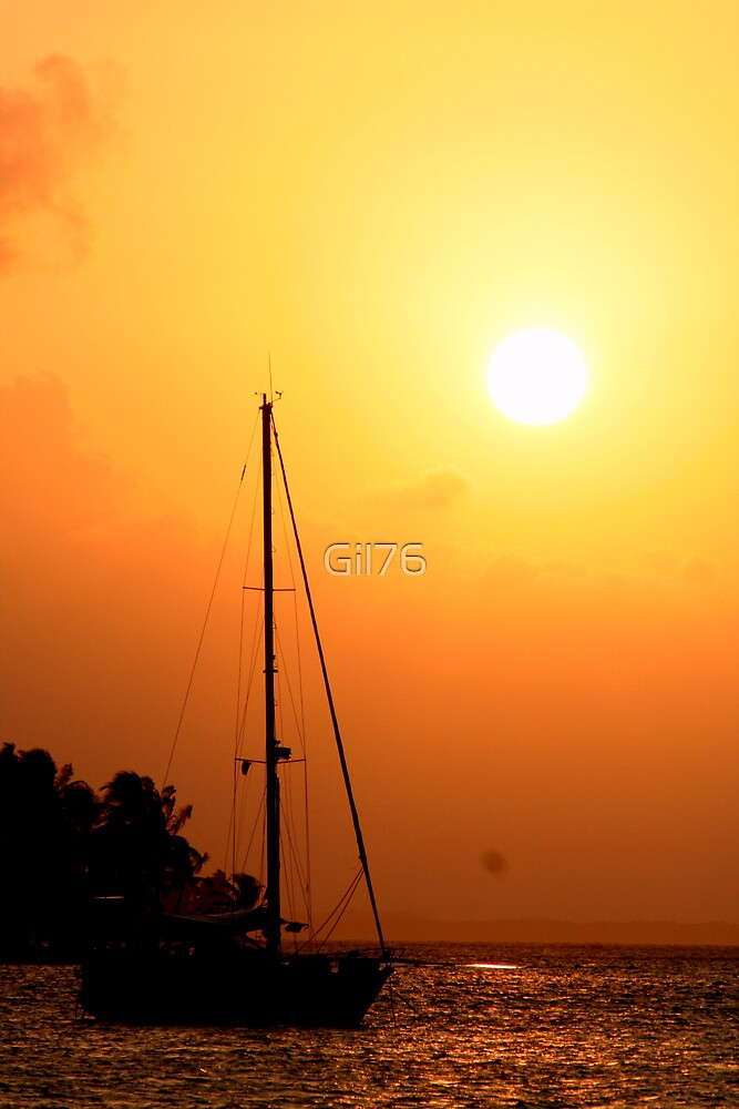 Sail & Sunset by Gil76