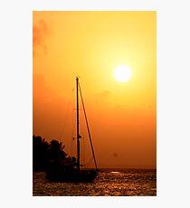 Sail & Sunset Photographic Print