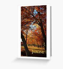 Imagine, inspiring autumn scene and blue skies. Greeting Card