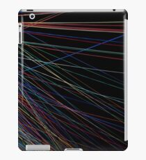 Colorful thread lines from a summer festival iPad Case/Skin