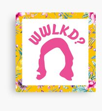 What Would LK Do? - Flowers Canvas Print