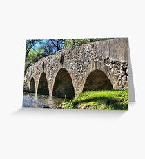 Historic Meadows Road Bridge Greeting Card
