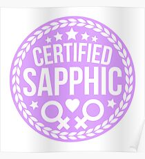 certified sapphic Poster