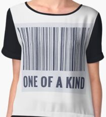 One of a kind barcode  Women's Chiffon Top